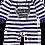 Thumbnail: Flaming Star Master of Disaster,  stripy navy/white