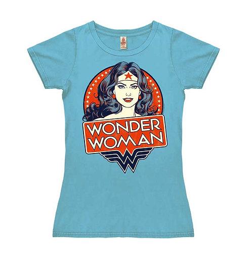 Wonder Woman Portrait, vintage aqua