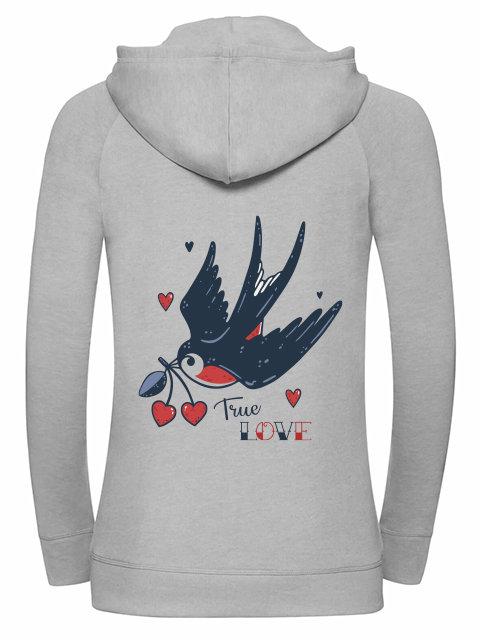 True Love, Girl Zip grey