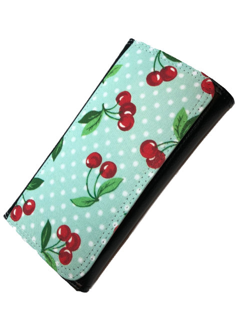 Cherry Polka mint green, Wallet