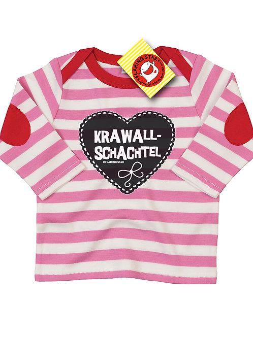 Flaming Star Krawallschachtel, stripy pink/white