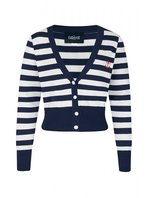 COLLECTIF, Purdy navy/white stripes
