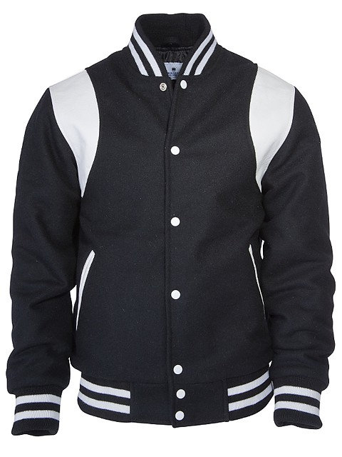 KINGS LEAGUE College Jacket, black/white