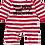 Thumbnail: Flaming Star Milk, Mom...stripy, red/white