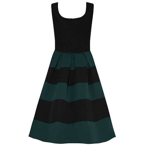 Dolly & Dotty Anna, black/green stripes