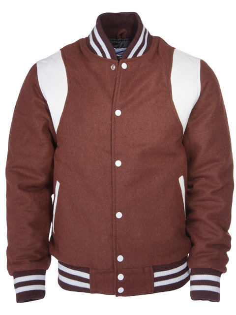 KINGS LEAGUE College Jacket, brown/white