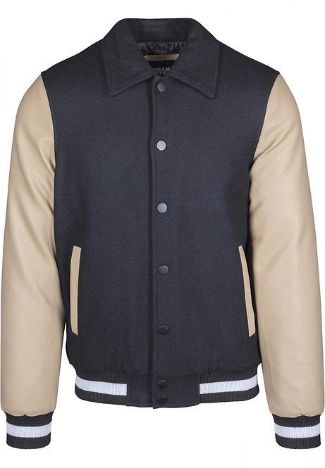 College Jacket Collar, black/beige