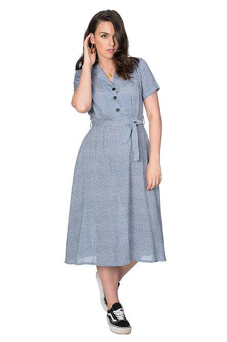 BANNED, Floral Dress light blue