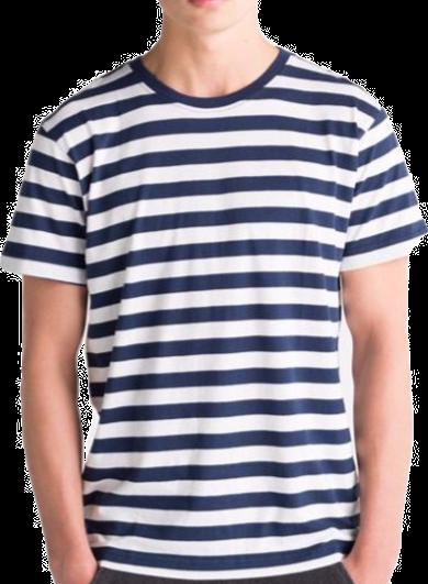 Stripy Tee, navy/white