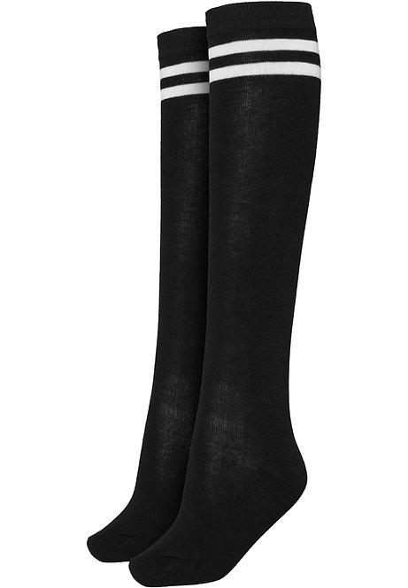 Ladies College Socks, black/white