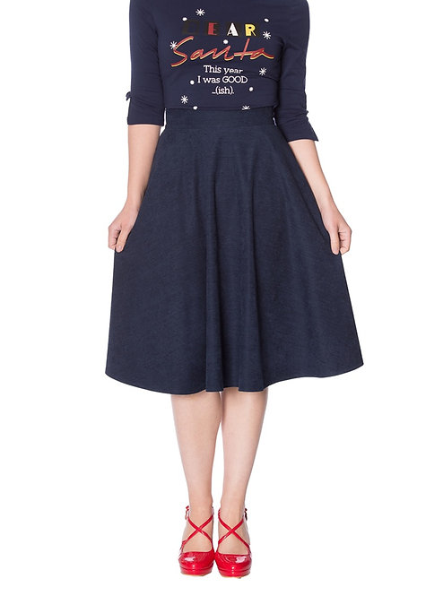 BANNED Sophisticated Skirt, navy