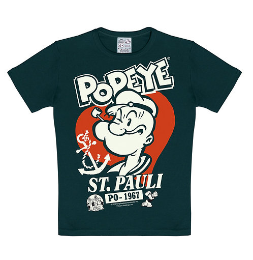 Logoshirt Popeye St.Pauli, black