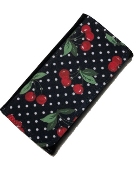 Cherry Polka black, Wallet