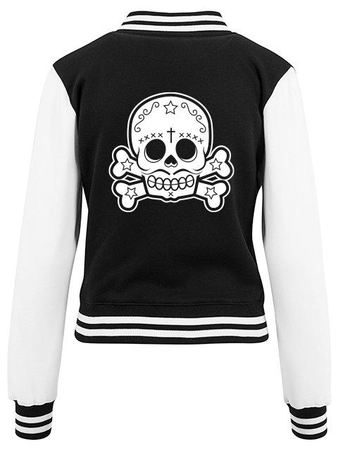 Flaming Star Mexican Skull, Baseball black/white