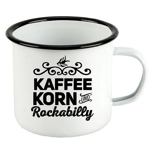 Kaffee, Korn und Rockabilly, emaille