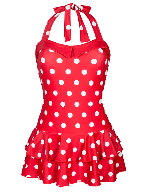 Pussy Deluxe, Polka Love red/white