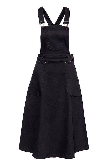 QUEEN KEROSIN, Workwear Latzrock, black