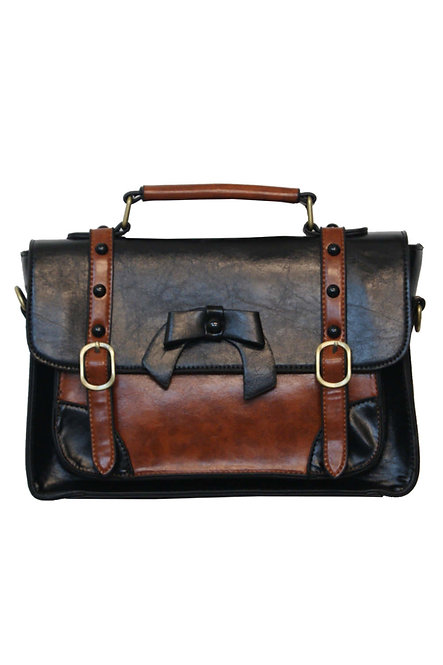 BANNED, Bow Bag, black/brown