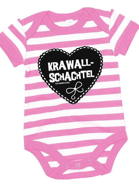 Flaming Star Krawallschachtel,  stripy pink/white