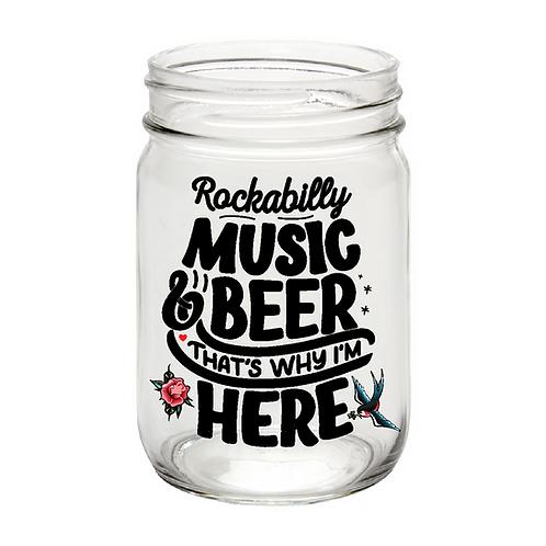 Rockabilly Music, mason jar