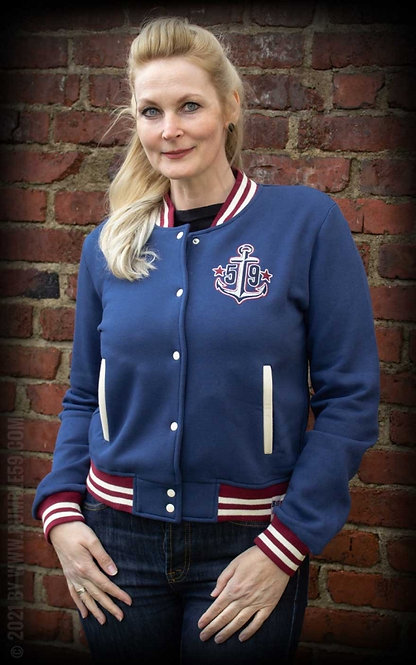 RUMBLE 59 Sweat College Jacket, Anchors aweigh