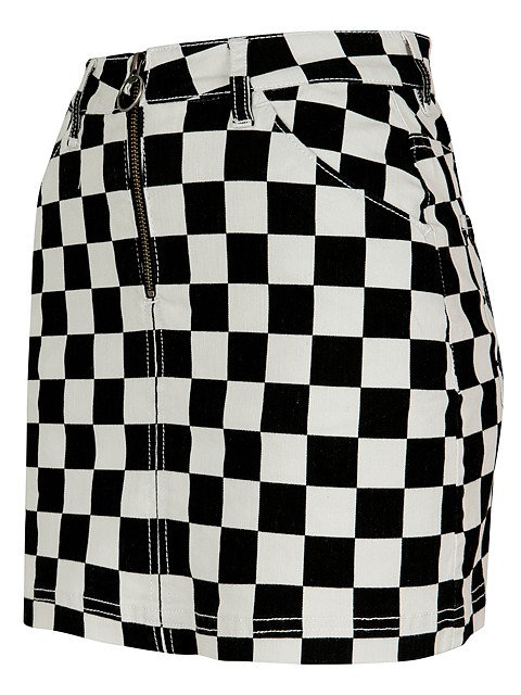UC Check Mini Skirt
