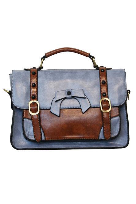 BANNED, Bow Bag, lightblue/brown