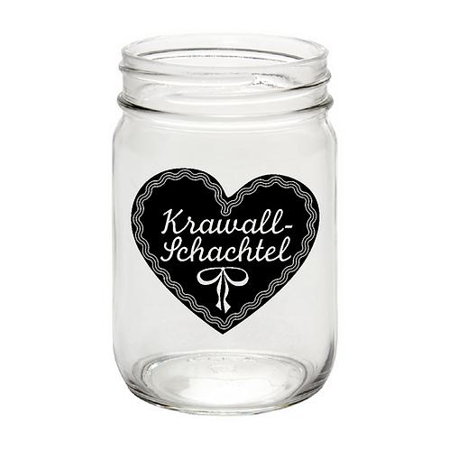 Krawallschachtel, mason jar