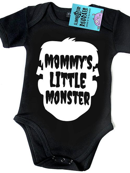 Flaming Star Mommys little Monster, black