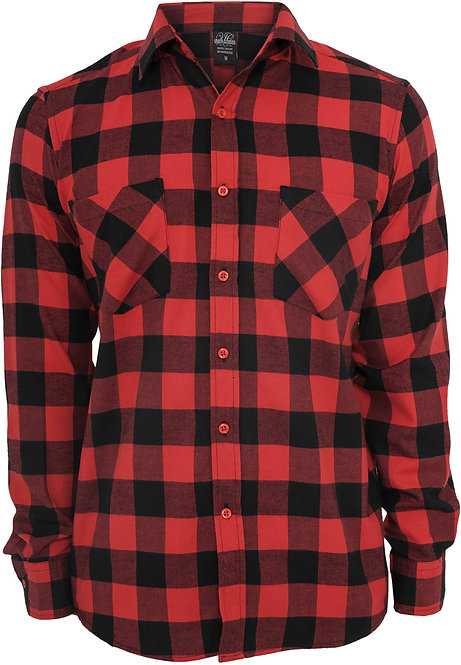 UC Classic Flanell, black/red