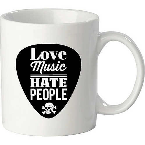 Love Music - Hate People, white