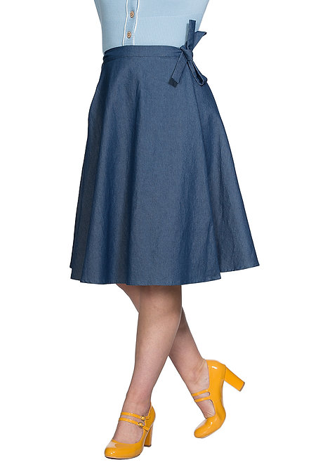 BANNED Sail Skirt, denim blue