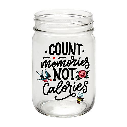 Count Memories, mason jar
