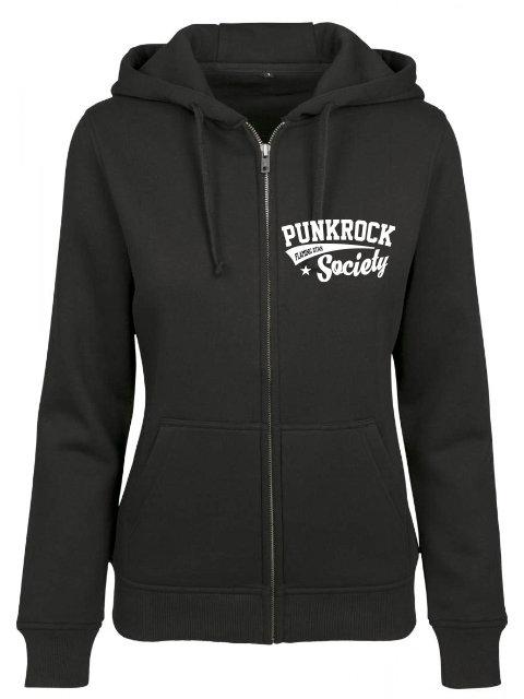 Flaming Star Punkrock Society Girl Zip, black