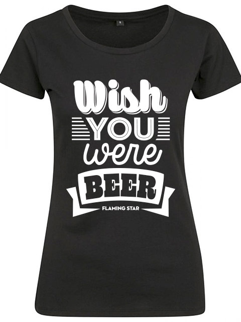 Flaming Star Wish you were Beer, black