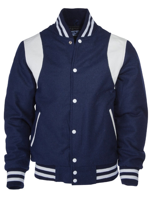 KINGS LEAGUE College Jacket, navy/white