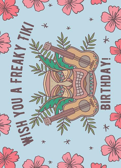 Freaky Tiki Birthday, Postkarte