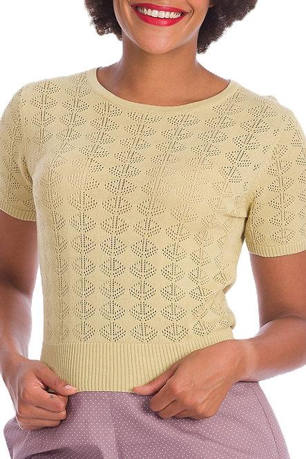 BANNED Bow Knit Top, lemon
