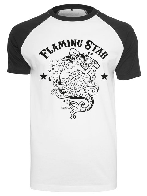 Flaming Star Rum im Blut, black/white
