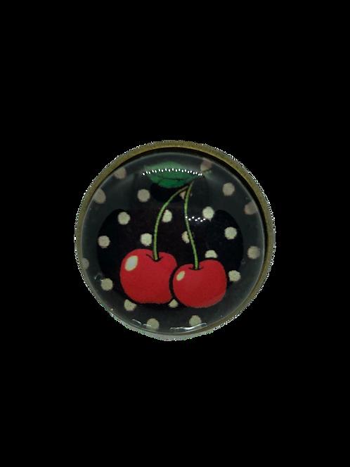 Cherry Love, black/white polka