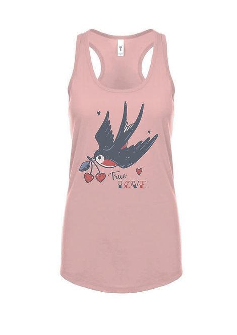 True Love Racerback Top, desert pink