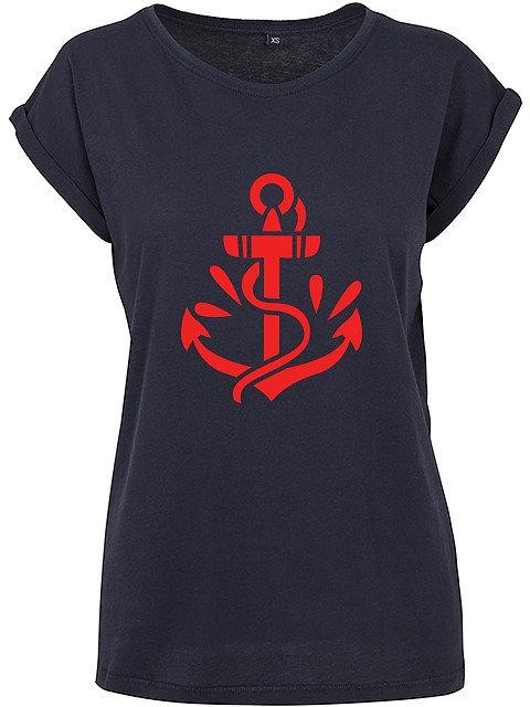 Flaming Star Oldschool Anchor, navy
