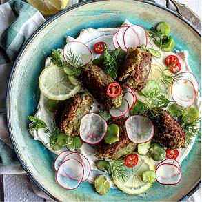 Herbed Zucchini  Lamb & Sirloin  Meatballs