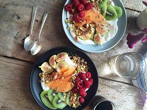 Raw Creamy Coconut Yogurt with Fruit and Granola
