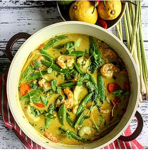 Dalia's Thai  Shrimp Coconut  Curry