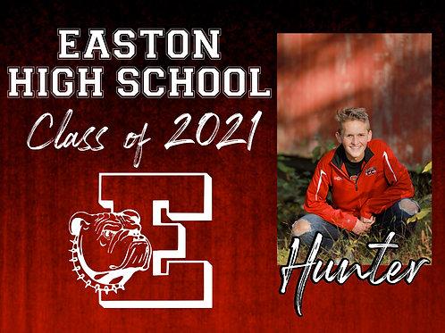 Easton 2021 Senior *Custom Photo* Yard Sign
