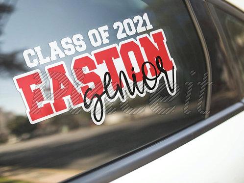 Easton Senior Decal