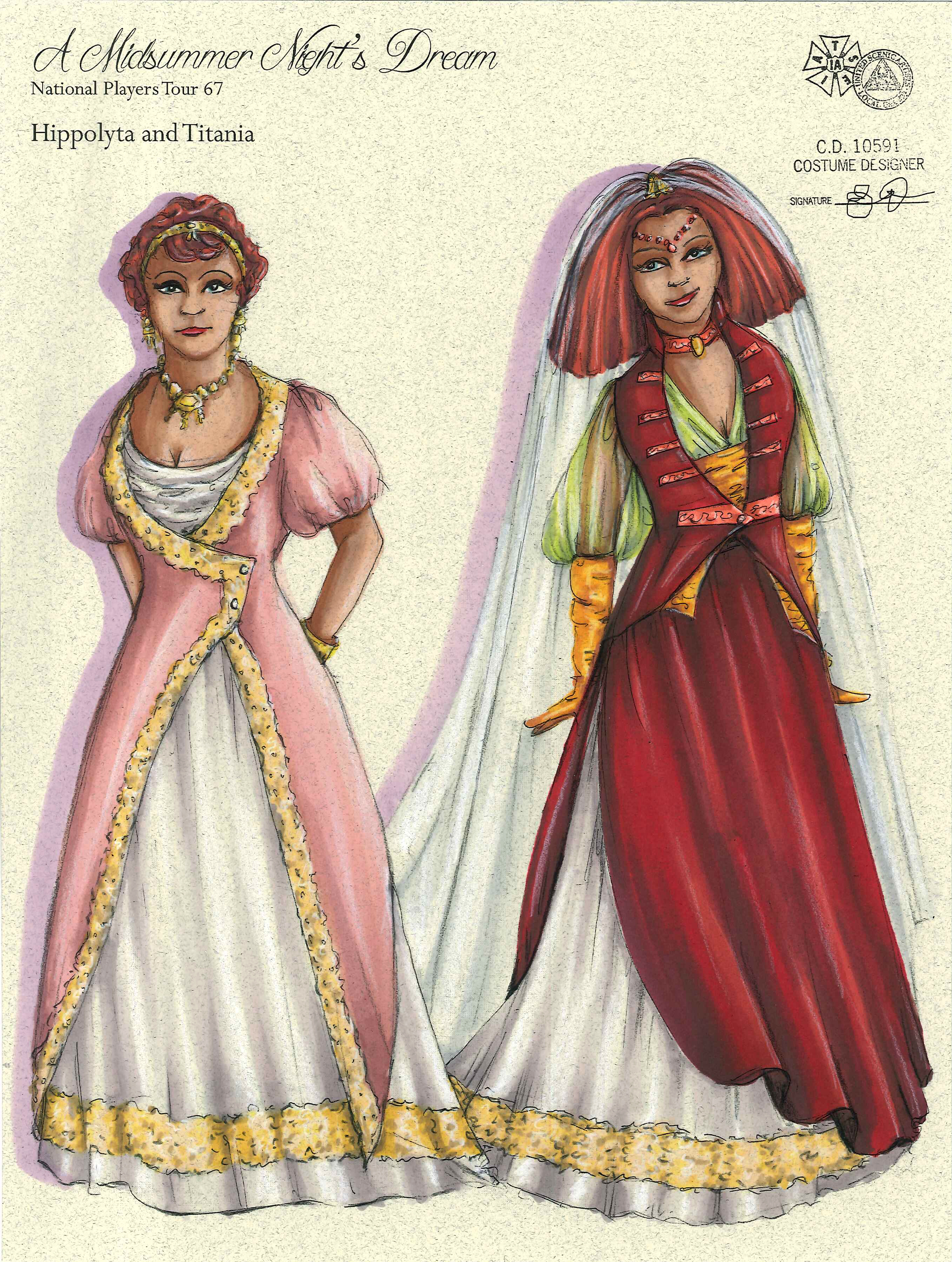 Hippolyta and Titania from Midsummer