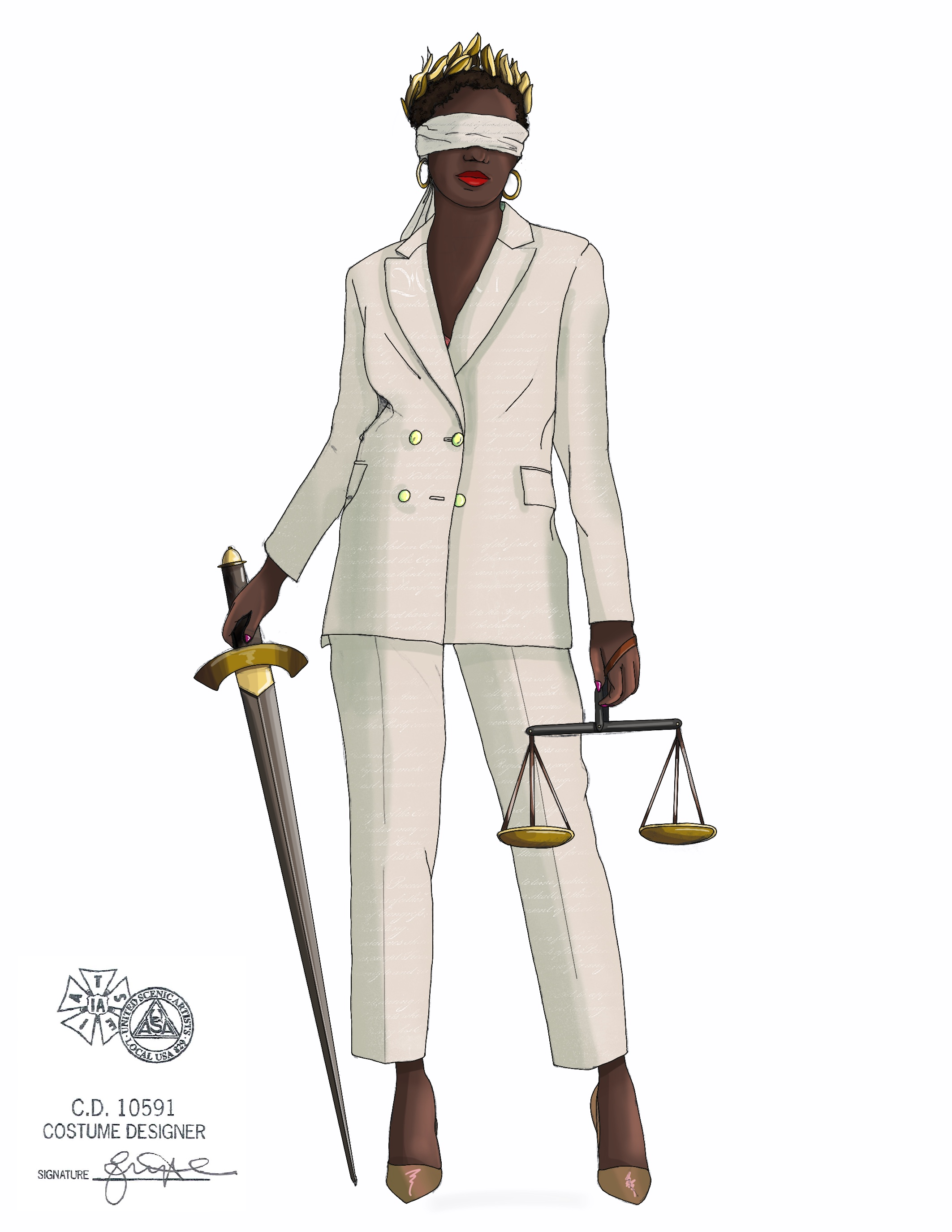 Commissioned Artwork: Lady Justice