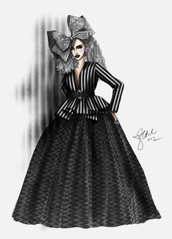 Alyssa Edwards Black and White Eleganzza